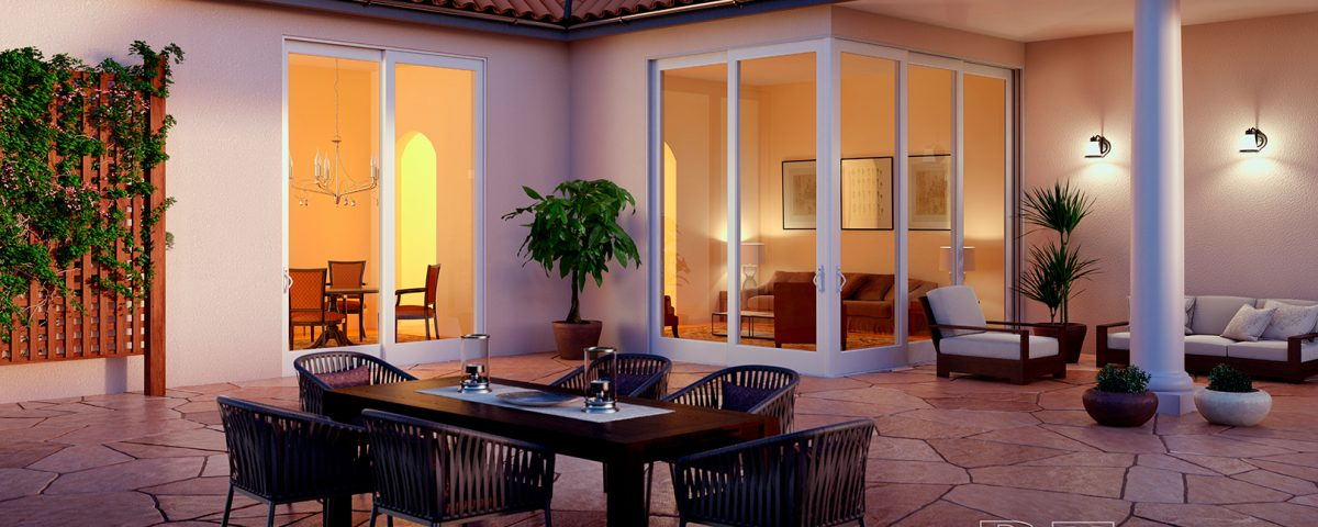 Glass Sliding Doors - 90 Degree PGT Sliding Glass Doors - Corner Sliding Doors