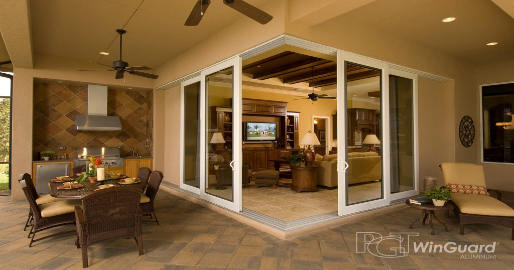 0 Degree PGT Sliding Glass Doors - Corner Sliding Doors - Glass Sliding Doors
